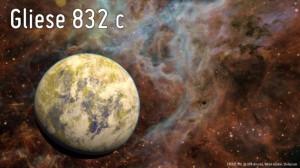 Gliese 832c в представлении художника