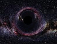 Чёрная дыра в представлении художника