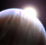 Экзопланета HD 189733b в представлении художника