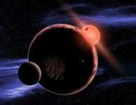 Экзопланеты вблизи красного карлика в представлении художника