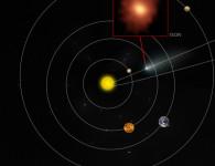 Примерное расположение кометы ISON в нашей Солнечной системе на момент наблюдений ALMA
